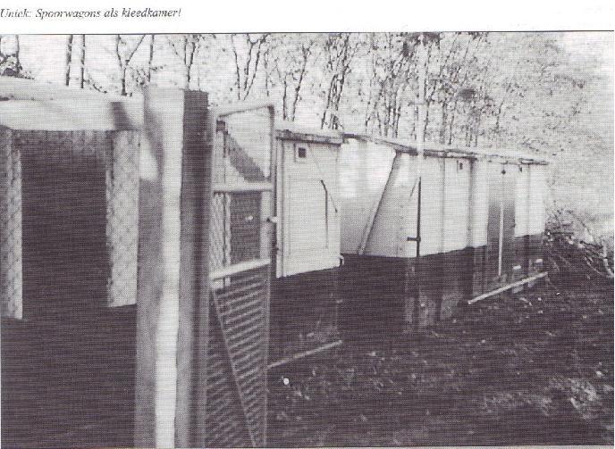 Spoorwagens als kleedkamer