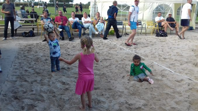 beachvolleybalveld is een schot in de roos